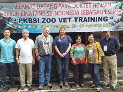 Photot of attendees at zoo vet training