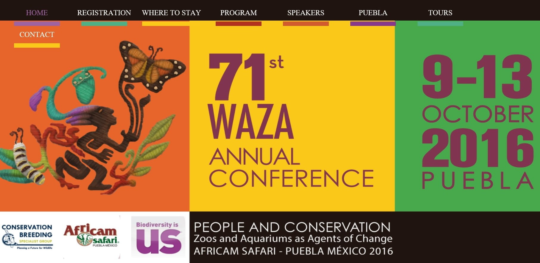 Photo of web page of WAZA annual conference