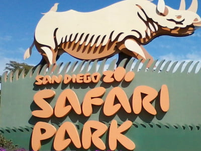 Photo of the entrance to San Diego Zoo's safari park