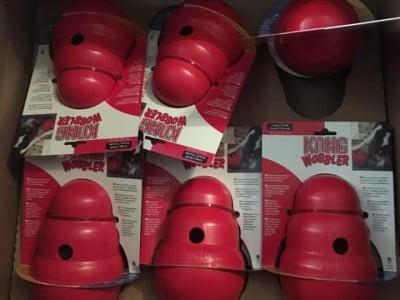 Image of a box of Kong toys