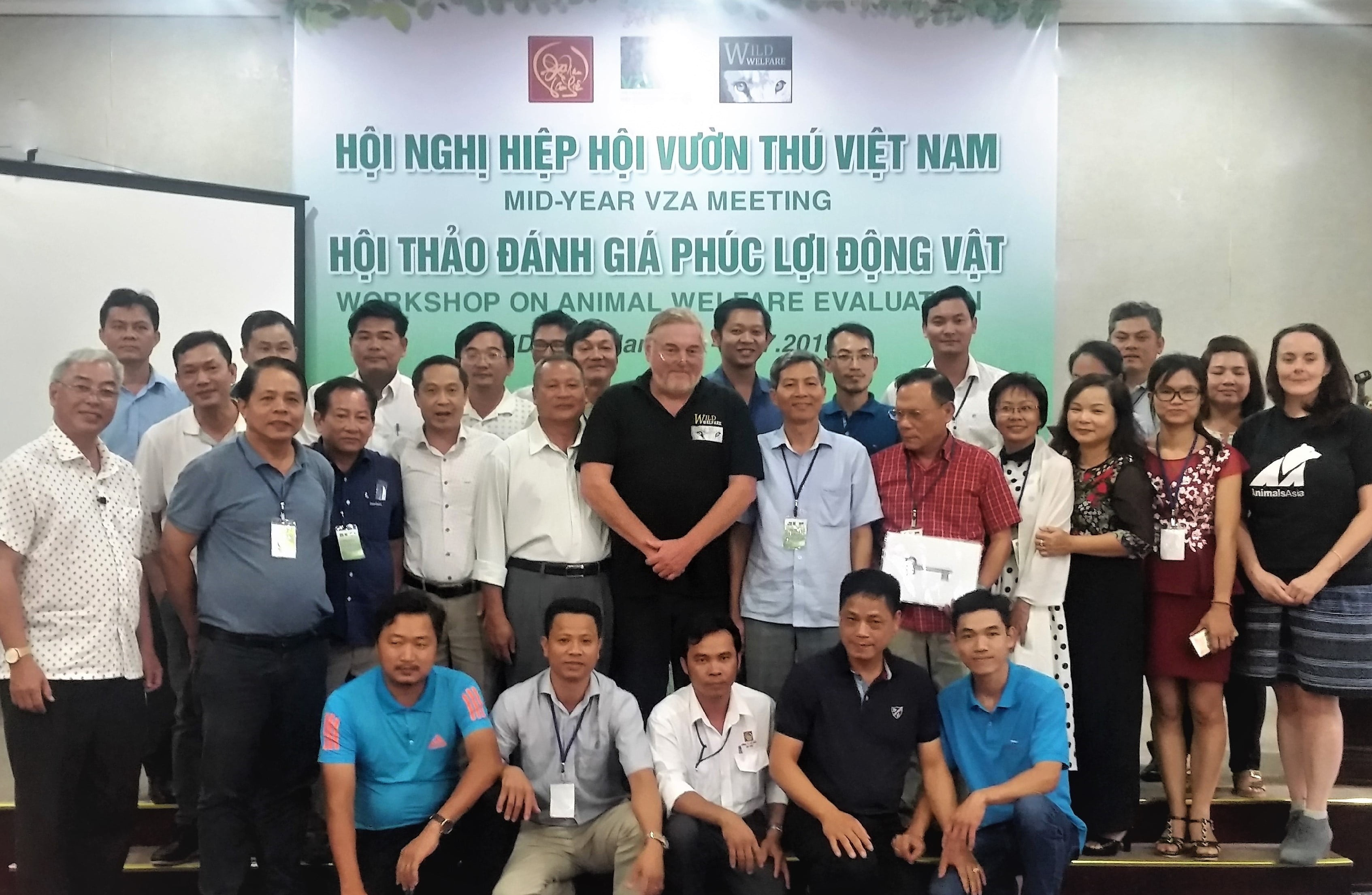 Participants at Wild Welfare animal welfare training seminar in Vietnam