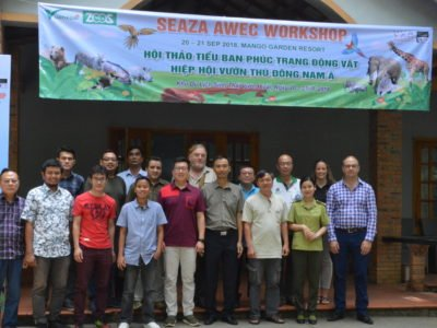 SEAZA members and Wild Welfare team carrying out welfare training in Vietnam