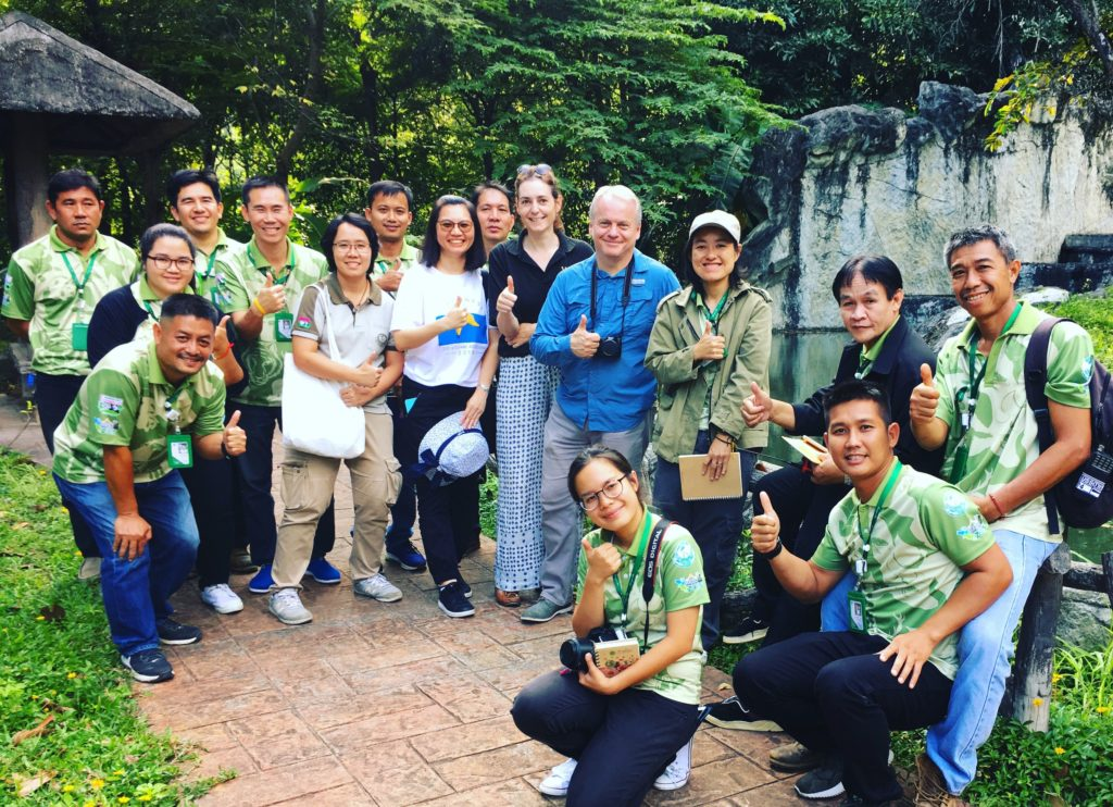 Group of zoo staff at Chiang Mai zoo