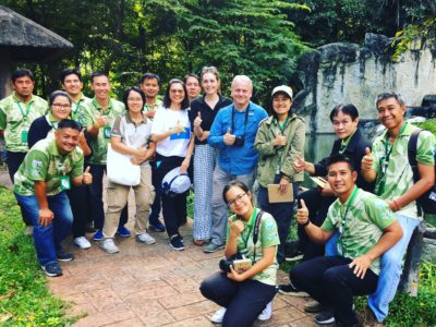 Group of zoo staff at Chiang Mai zoo