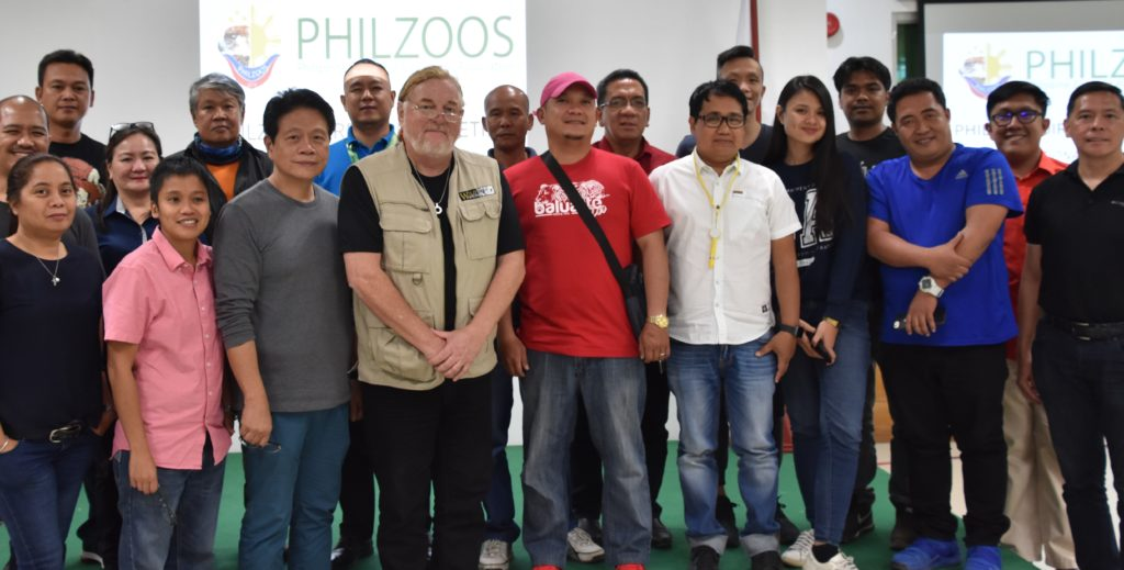 Wild Welfare and members of PHILZOOS at a meeting on zoo animal welfare in the Philippines